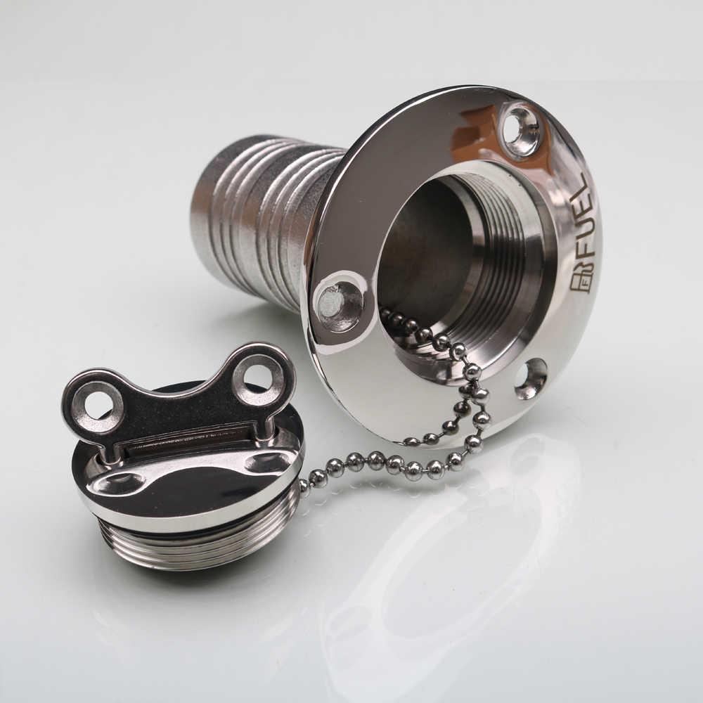 HCSSZP Marine Boat Hardware Deck Filler AISI 316 Stainless Steel Fuel Water  Waste Diesel Gas Key Cap Filler