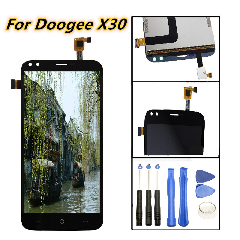 100% Tested Screen Digitizer Assembly Replacement For 5.5 inch Doogee X30 LCD Display Touch Screen Free Tools