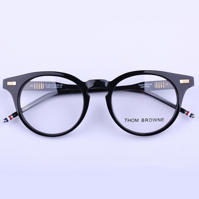 Thom Browne Gafas de Marco de anteojos Mujeres Hombres Ordenador Óptico Espectáculo de la mujer Transparente Lente Transparente Femenina RS274