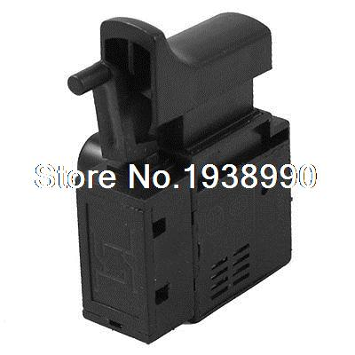 SPNO 5E4 Lock On Electric Drill Power Tool Trigger Switch fa2 6 1bek spst lock on power tool trigger button switch black