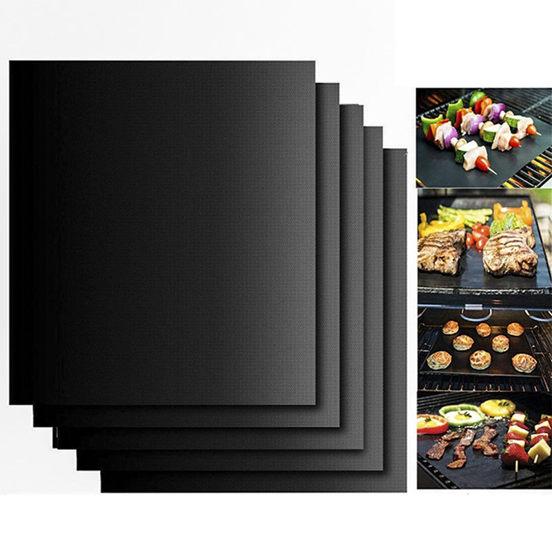 2pcs Reusable Non Stick Grill BBQ Mats Sheet Heat Resistant Barbecue Grill Baking Pad Mat Outdoor Picnic Cooking Tool 40*33cm ...
