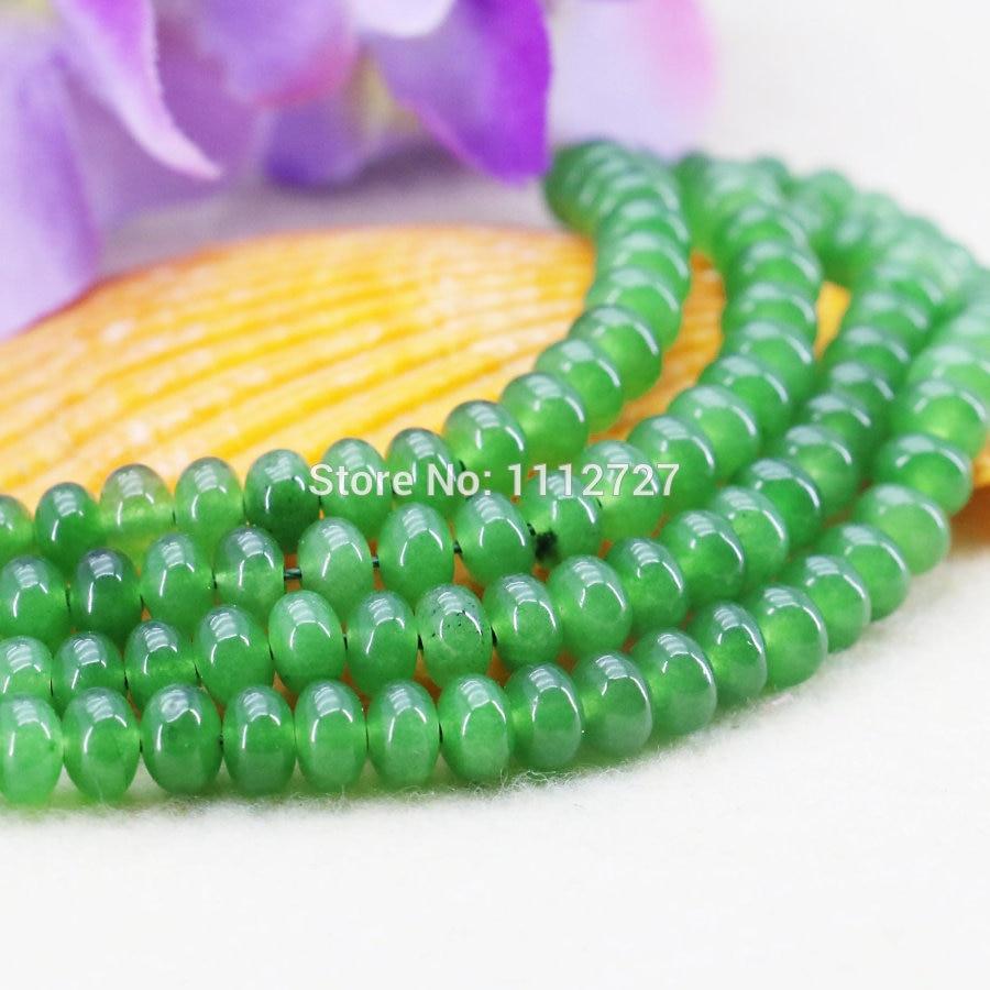 24e5e8631e4b 4x6mm nuevo collar pulsera accesorios artesanías verde Malay Aventurina  mujeres niñas regalo ...