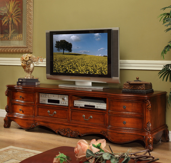 Good An American TV Cabinet Furniture The Family 2 Miou Style TV Cabinet Solid  Wood Cabinet Aigui