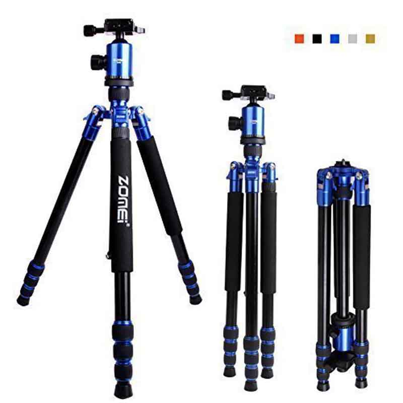 DHL Free Shipping Zomei Z888 DSLR Camera Tripod Monopod & Ball Head Quick Release Plate Reversible Centre Axis With Case diy carving tool kit micro pin vise hand drill chunck mini walnut vise clamp table bench vice 20pcs micro twist drill bit set