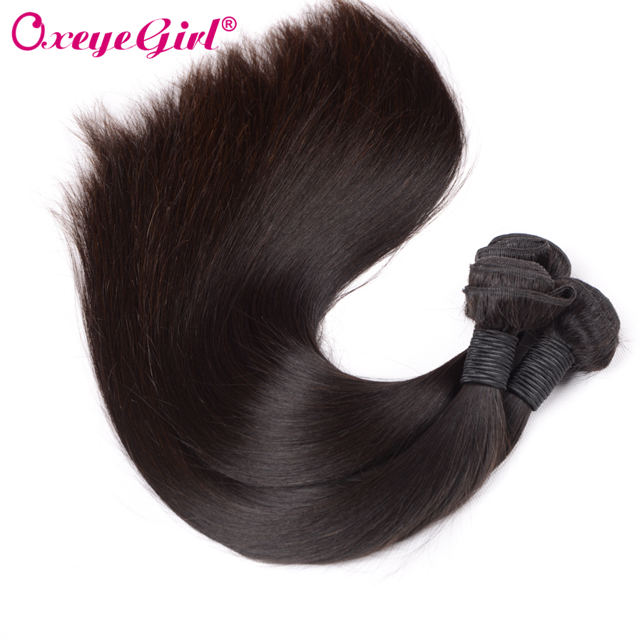 "Straight Hair Bundles Remy Hair Extensions Brazilian Hair Weave Bundles Naturfarve 10 ""-28"" 100% Human Hair Bundles Oxeye pige"