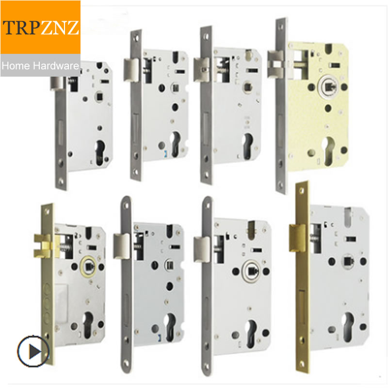 5850 Lock Body, Stainless Steel, Length 165, Anti-lock, Heavy Spring, Copper Lock Body, Split Body, Round Head