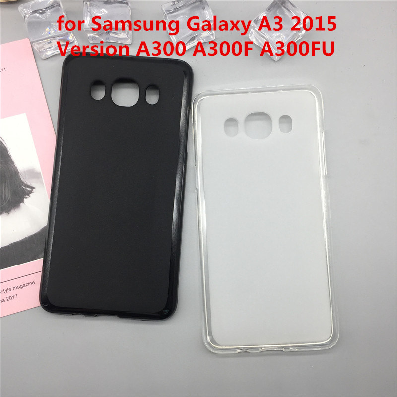 Case Soft Silicon Phone Para For Samsung Galaxy A3 2015 Version A300 A300F A300FU Luxury TPU Fundas Cover Shell Black Cases