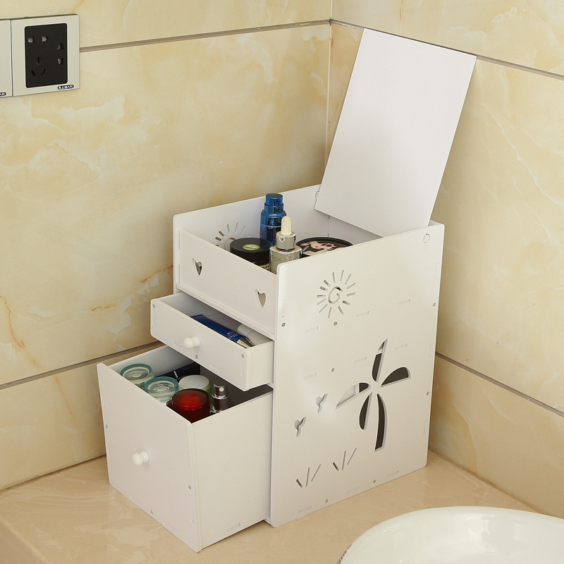 High quality waterproof bathroom desktop cosmetic storage ...