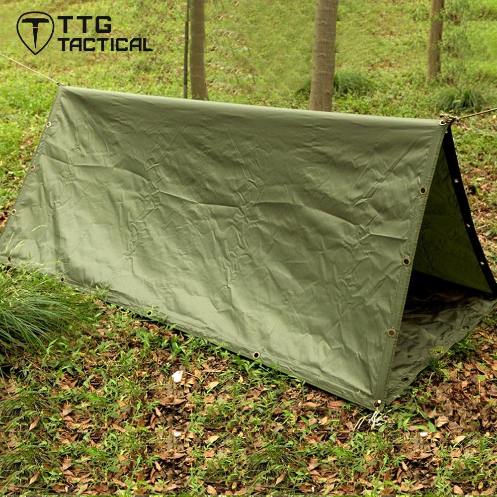 ФОТО 195x205cm Multi-Use Waterproof Portable Military Camping Hammock Gazebo Swing Camping Multifunctional Camping Tents Army Green