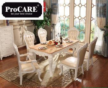 Nuevo diseño francés comedor muebles mesa de mármol juego de mesa de  comedor de madera >> procare Official Store