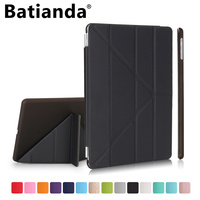 Batianda For IPad Mini 1 2 3 Case Folding Design Stand Case Cover With Auto Sleep