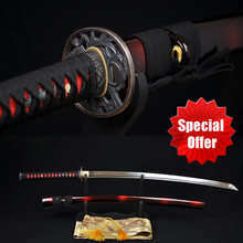 Handmade Japanese Samurai Katana Sword 1060 High Carbon Steel Full tang Blade Sharp – Custom Real Espadas Katanas Battle Ready