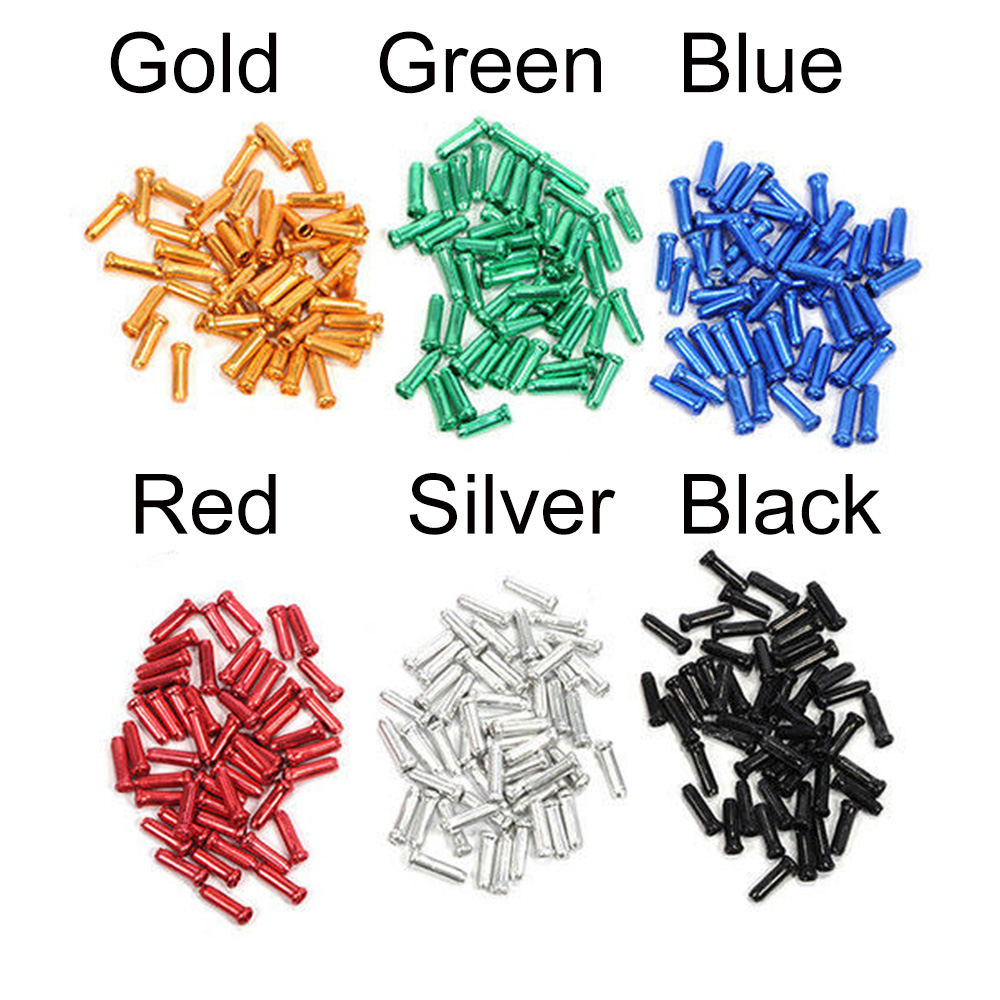 Colourful Aluminum Alloy Bike Brake Shifter Inner  Derailleur Cable Tips Wire End Cap Crimps Bicycle Accessories