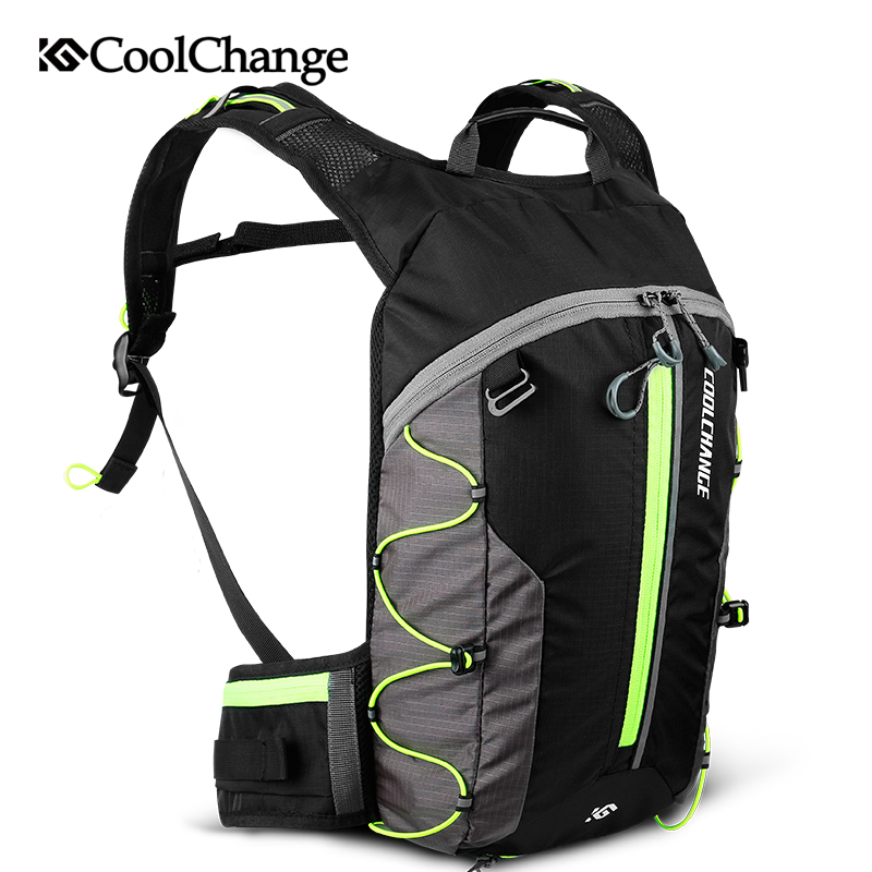 CoolChange Bike Bag Ultralight Waterproof Sports Breathable Backpack Bicycle Bag Portable Folding Water Bag Cycling Backpack coolchange waterproof bike bag frame front head top tube cycling bag double ipouch 6 2 inch touch screen bicycle bag accessories