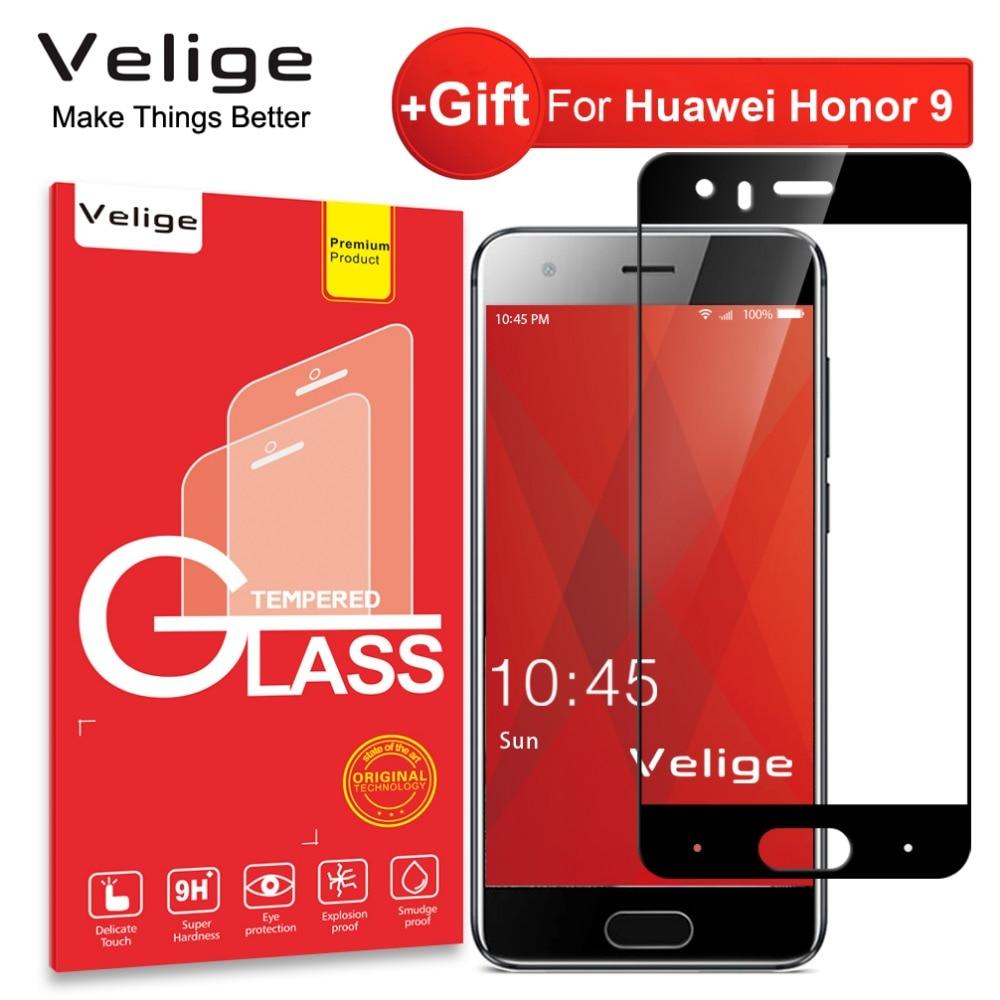 Velige 2.5D Pleine Couverture En Verre Trempé pour Huawei Honor 9 Honor9 Écran Protecteur HD Clarté 9 H Verre De Protection Film