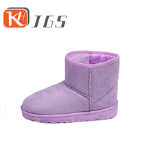KHJGS Brand Free Shipping Hot Sale Women Snow Boots 100% Genuine Cowhide Leather Ankle