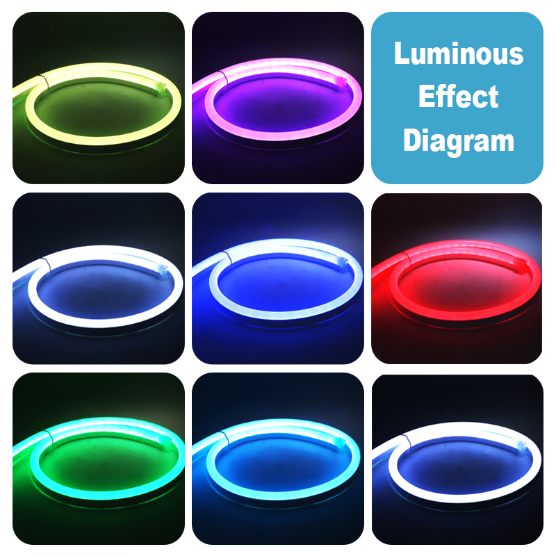 SZYOUMY 12 v LED Neon Strip Licht 80 LED 5050 2835 120 led Waterdichte Flexibele Led Touw 20 m 50 m 100 m voor Indoor Outdoor Wit - 6