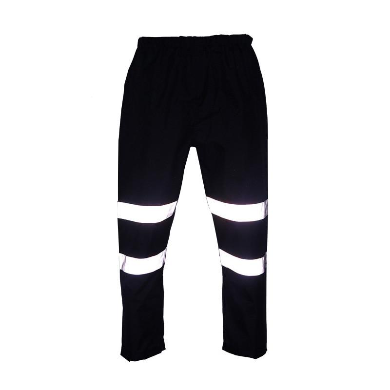 цены на Reflective Rain Pants Raincoat Traffic Road Safety Waterproof Men Women Working Pants 300D Oxford Wear-resistance Work Trousers в интернет-магазинах