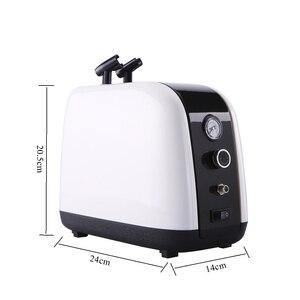 Image 3 - OPHIR Chuyên Nghiệp Máy Nén Khí Kit 2 Airbrush Compressor Kit Kép Hành Động Phun Airbrush Set Cho chăm sóc Da Mặt cơ thể sơn AC057