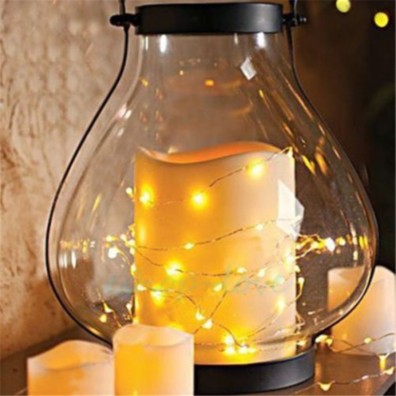 LED Fairy Light 2m 20 LED String Light Waterproof Copper Wire Powered by CR2032 Battery for Garland Christmas Wedding Decoration in LED String from Lights Lighting