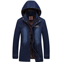 new arrive Brand Clothing Denim Jacket Men Hoodies Slim Military Outwear For Male
