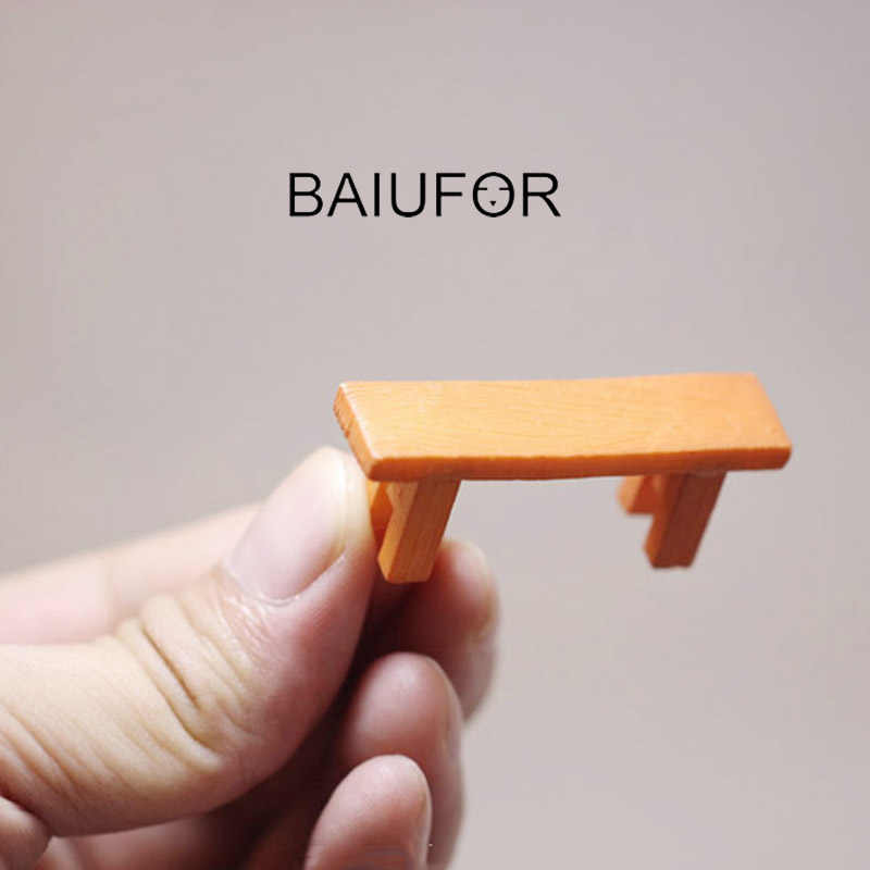 Peachy Baiufor Miniatures Figurines Bench Stool Mini Garden Caraccident5 Cool Chair Designs And Ideas Caraccident5Info