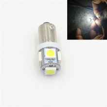 CYAN SOIL BAY 1pc High Quality BA9S 434 T4W 5 LED 5050 SMD H6W Car Auto Interior Reading Lights Dome Lamp DC 12V White