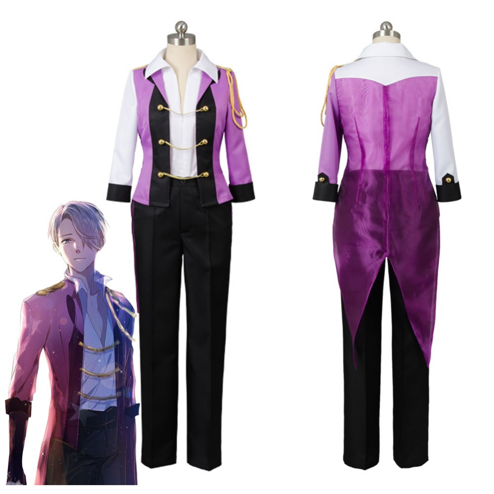 2017 New Victor Costume Yuri on Ice Victor Nikiforov Uniform Suit Cosplay Costume Jacket Pants