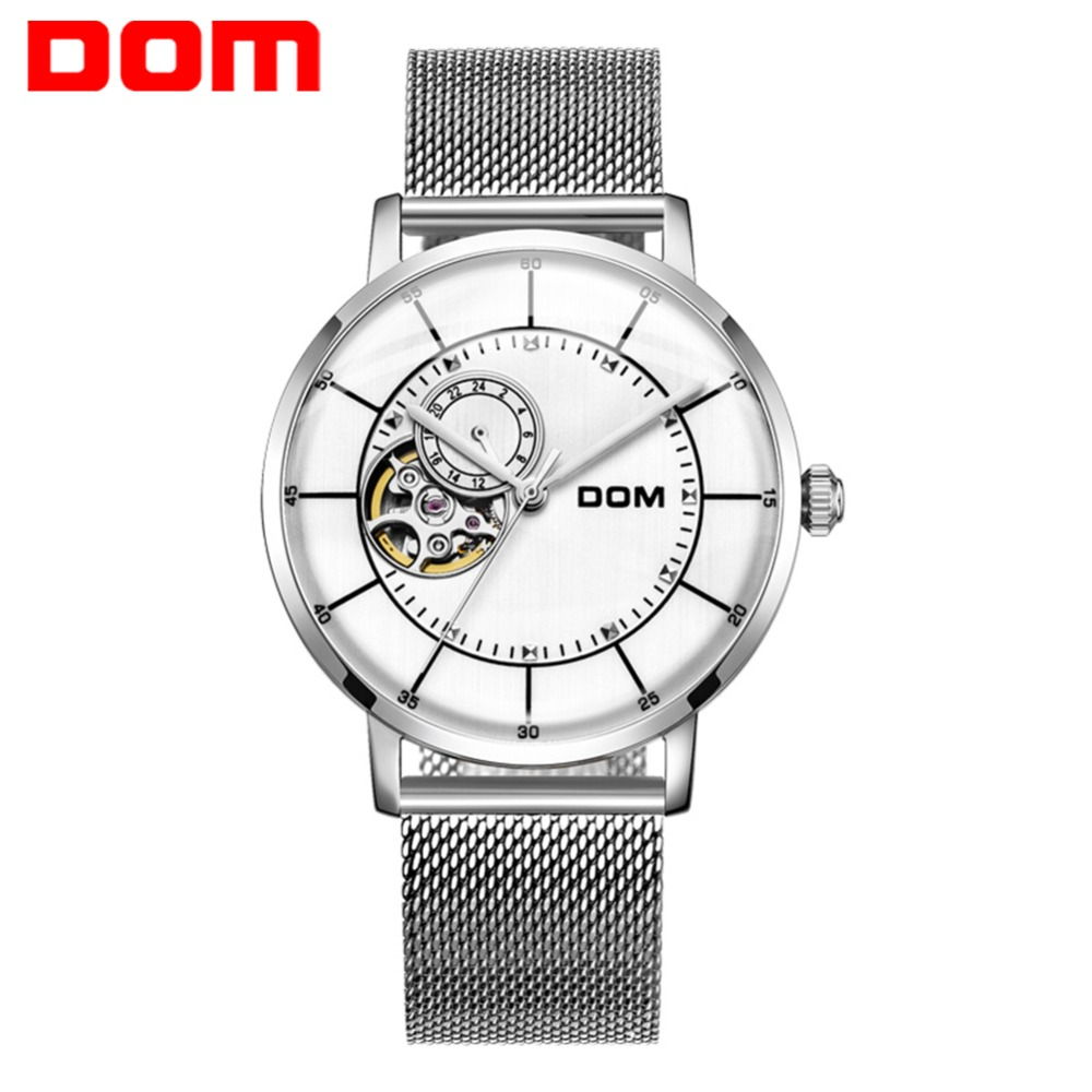 DOM Men New Tourbillon Automatic Mechanical Watch Luxury Fashion & Casual Brand Full Steel Man Self-Wind Watches Clock M-8119DOM Men New Tourbillon Automatic Mechanical Watch Luxury Fashion & Casual Brand Full Steel Man Self-Wind Watches Clock M-8119