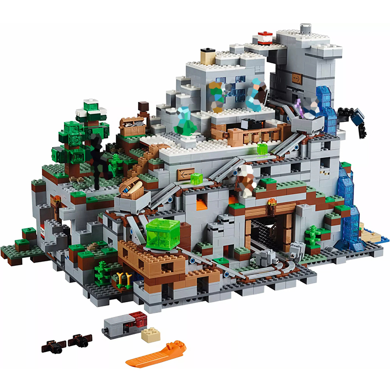 Minecraft Series Game The Mountain Cave Bricks 2932Pcs DIY Building Blocks Compatible With My World Toys