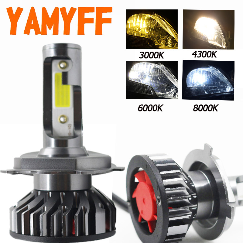 YAMYFF H7 LED H4 LED H11 Car Lights Canbus Headlight Bulbs 6500K 4300K 3000K 8000K H3