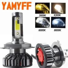YAMYFF H7 светодиодный H4 светодиодный H11 огни автомобиля Canbus фар лампы 6500 K 4300 K 3000 K 8000 K H3 H1 HB3 9005 9006 880 H27 12 V Авто Туман лампа