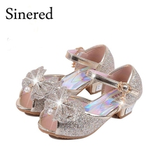 Sinered Children new high heels party sandals princess style fashion prom shoes for girls safty quality sandals for kids
