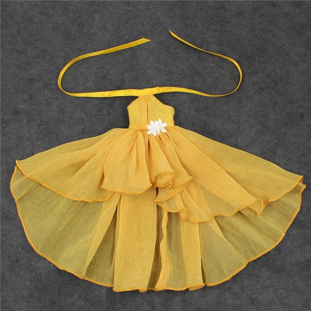 Neo Blythe Doll Chiffon Dress with Flower 17