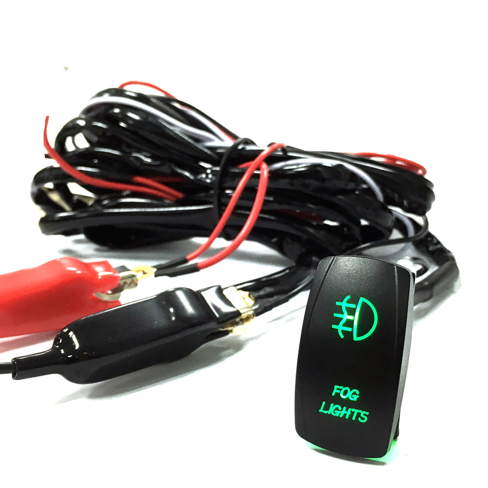 1pc new Universal Wiring Kit LED Fog Light Driving Lamp Wiring Harness Fuse Switch Relay