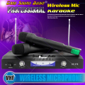 Professional Wireless Microphone System Dynamic Dual Handheld Mic With Receiver For Karaoke Stage KTV Singing Microfone Sem Fio