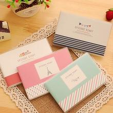 4pcs/lot 10.6*7.2cm Cute Little Plastic Sets Fresh Memories Portable Notebook Student Gift Book