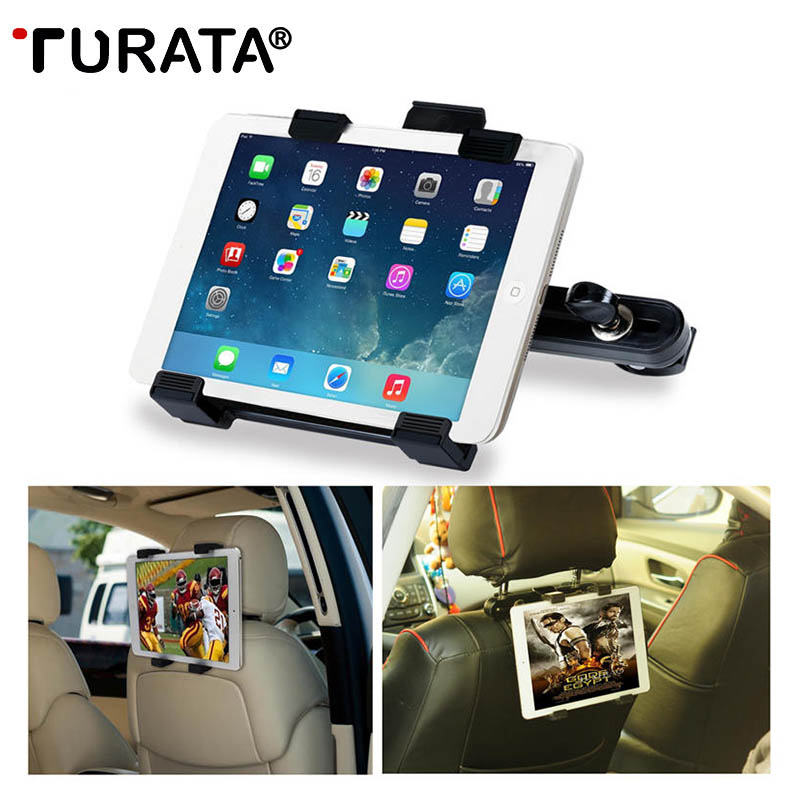 TURATA 7-10 Tablet Car Holder Car Back Seat Tablet Car Mount Stand Stents For iPad Mini 2 3 4 Air For Samsung Xiaomi Kindle