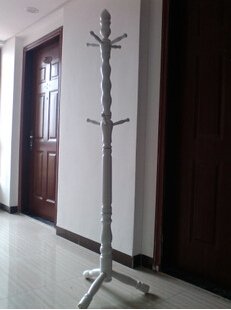 купить Free Shipping 175cm Floor Solid Wood Coat Rack White по цене 12715.53 рублей