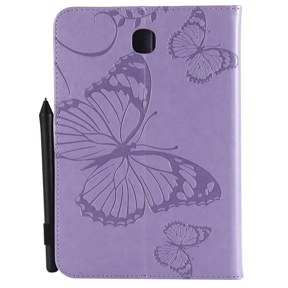 Leather Case For Samsung Galaxy Tab A 8.0 SM-T350 T355 SM-T355 P350 P355 Cover Tablet 3D Butterfly Embossed Pattern Stand Shell