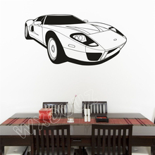 WXDUUZ Classic 1966 Ford GT40 Race Car Art Decor Wall Sticker Home Decor living room bedroom Poster Decor B322 cheap Modern Plane Wall Sticker For Wall Furniture Stickers Floor Stickers For Tile For Smoke Exhaust Window Stickers Toilet Stickers
