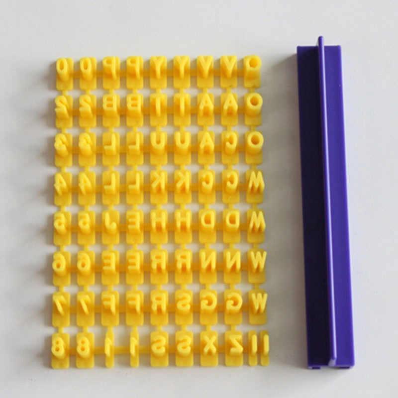 Número Letra do alfabeto Selo Embosser Cortador Do Bolinho de Imprensa Molde Fondant Bolo Moldes de Cozimento Ferramentas