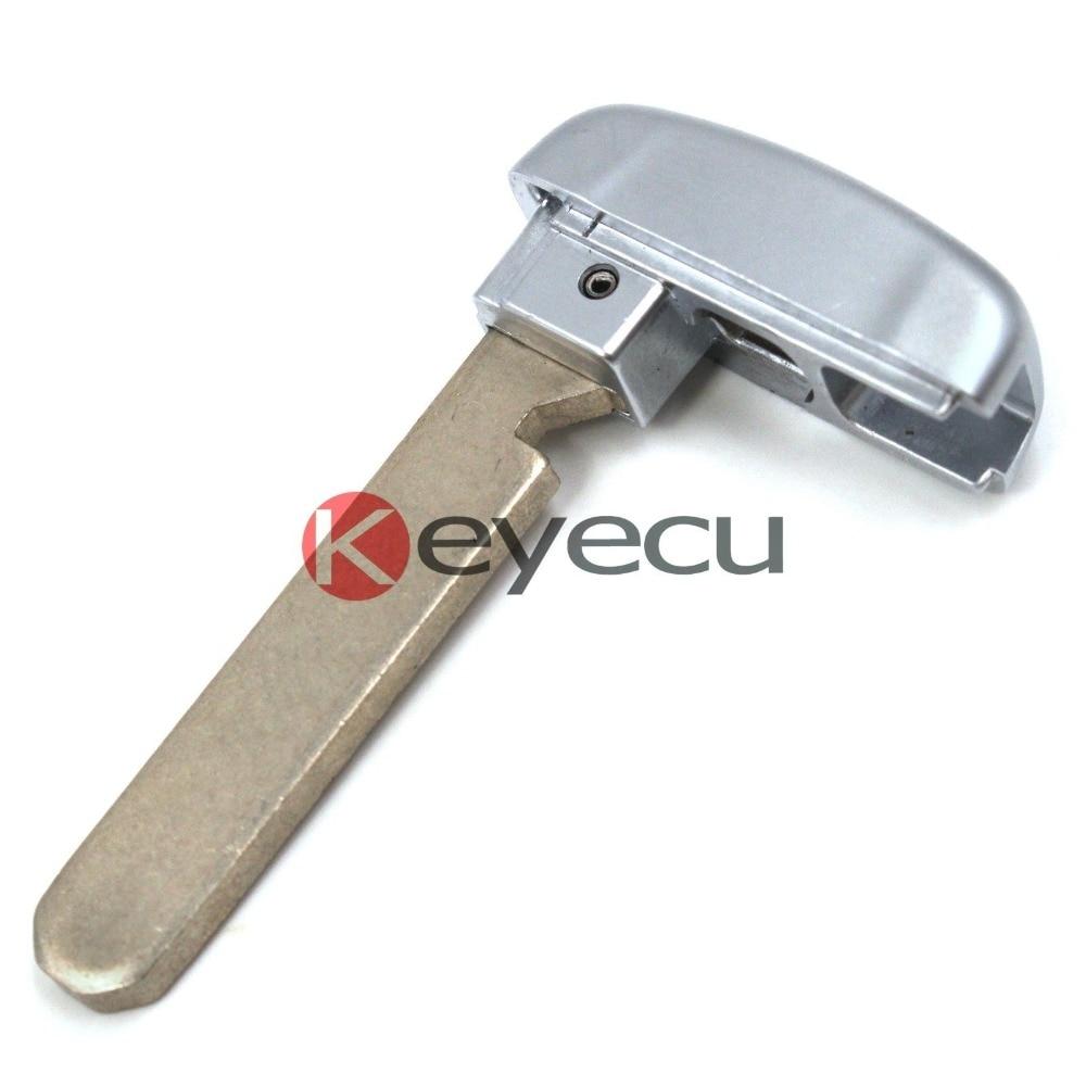 KEYECU New Uncut Emergency Smart Remote Key Insert Blank