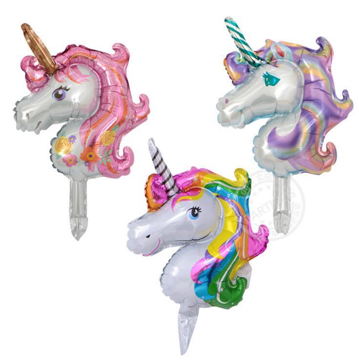 1 pcs Mini Unicorn Balloons Animal Foil Balloon Globos Inflatable Classic Toys Kids Birthday Party Decorations Supplies
