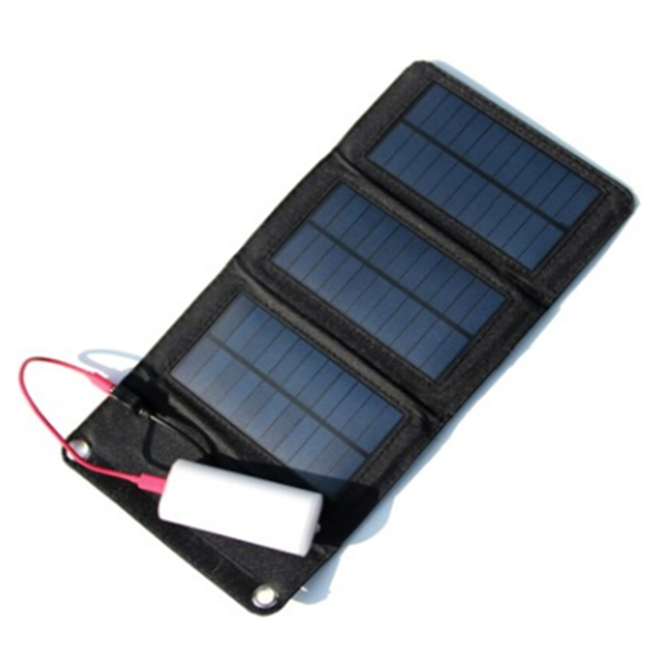 5W solar folding battery cell phone charger outdoor portable solar panels