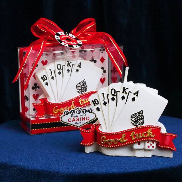 Charming Good Luck Poker For Boyfriend Father Holiday Birthday Gift Creative Cake Candles Party Accessories