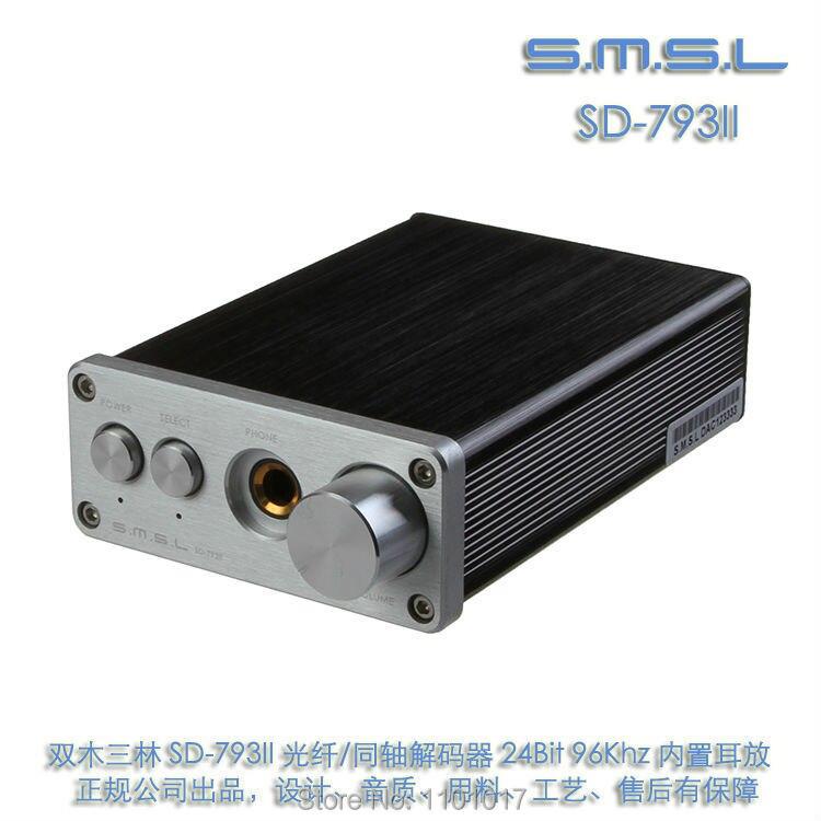 SMSL SD-793 II 24bit 96khz pure Coaxial SPDIF DAC DIR9001 PCM1793 OPA2134 digital converter with Headphone Amplifier SD793