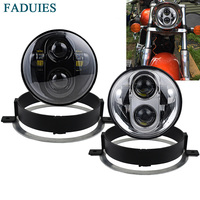FADUIES 5.75 inch motorcycle LED Headlight For Honda VTX 5 3/4 LED Headlight Kit with Bracket and Hardware Plug and Play