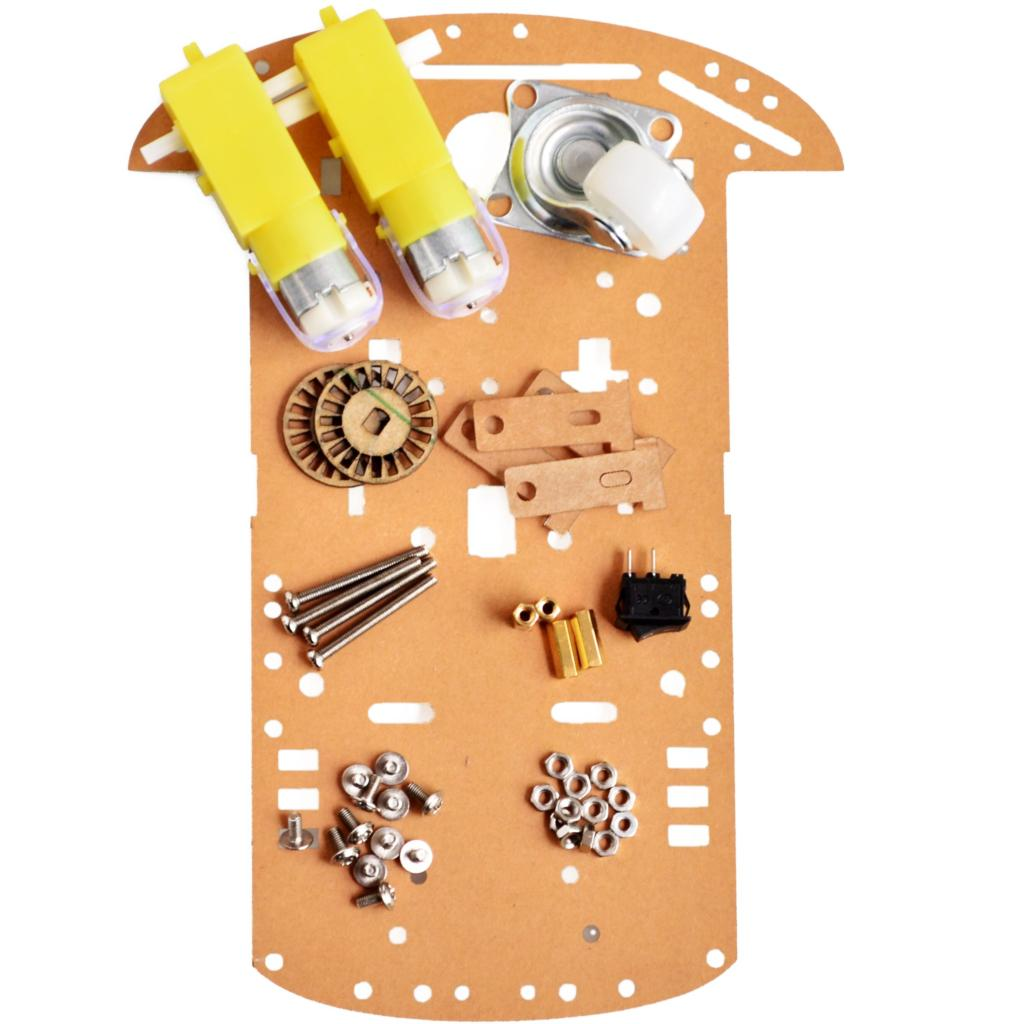 Electronic Components & Supplies Amiable Smart Robot Car Chassis Kit Speed Encoder Battery Box 2wd For Robot Kit Hot Sale 50-70% OFF