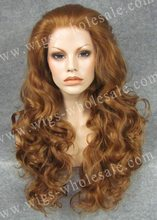 Fluffy blonde wet and wavy cheap lace front wig synthetic braided wigs blonde long wavy wig